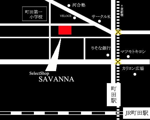 町田SelectShopSAVANNAmap